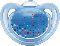 NUK světle modrý Dudlík FREESTYLE, silikon,velikost 2 (6-18m.)
