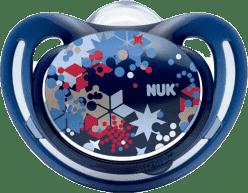 NUK Smoczek FREESTYLE, silikon, rozmiar 1 (0-6 mies.) – niebieski, gwiazdy