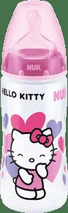 NUK FC + Fľaša HELLO KITTY PP, Silikón, 300ml - Ružová