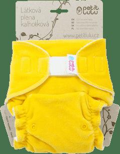 PETIT LULU Pieluchomajtki uniwersalne sz, welur – żółty miś
