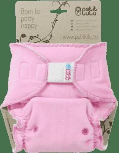 PETIT LULU Růžová kočička (velur) - kalhotková plena sz