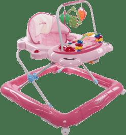 SUN BABY Dětské chodítko Footy – růžová
