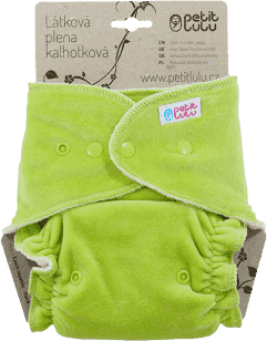 PETIT LULU Zelená maxi/noční plena + krátká vkládací plena pat
