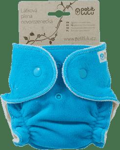 PETIT LULU Modrá lodička (velur) - novorozenecká plenka