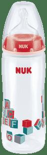 NUK Butelka First Choice + PP 360 ml – czerwona