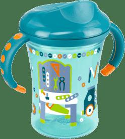 NUK EASY LEARNING Kubeczek do nauki picia 2 - z uchwytami, 250 ml – niebieski