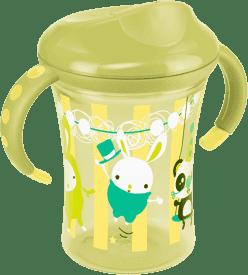 NUK EASY LEARNING Kubeczek do nauki picia 2 - z uchwytami, 250 ml – zielony