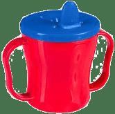 BABY ONO Hrnek netekoucí se sklápěcím náustkem modro – červená