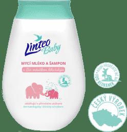 LINTEO BABY detské umývacie mlieko a šampón s Bio nechtíkom lekárskym, 250 ml