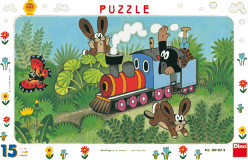 DINO Puzzle Planszowe Krecik i lokomotywa 15szt