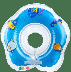 TEDDIES Kółko do pływania dla niemowląt Flipper niebieskie