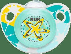 NUK Smoczek Trendline ADORE, silikon, rozmiar 1 (0-6 mies.) – gwiazda