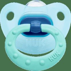 NUK modrý Dudlík Classic FASHION, silikon, velikost 1 (0-6m.)