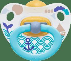 NUK Smoczek Classic HAPPY KIDS, lateks, rozmiar 1 (0-6 mies.) – niebieski, morze