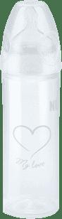 NUK NEW CLASSIC Fľaša LOVE PP 250ml, Silikón, Veľkosť 2, M - biela