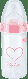 NUK NEW CLASSIC Láhev LOVE PP 150ml,Silikon,Velikost 1,M – růžová