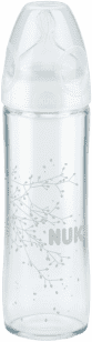 NUK Butelka NEW CLASSIC LOVE, szkło 240 ml, silikon, rozmiar 1