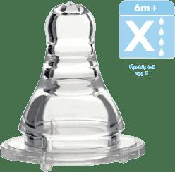 BABY ONO Cumlík antikolikový štandard silikón, kaša, 6m+