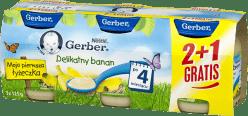 GERBER Delikatny banan (3 x 125g)