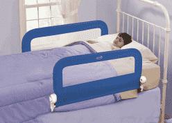 SUMMER INFANT Oboustranná zábrana na postel modrá