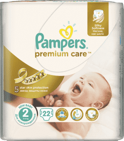 PAMPERS Premium Care 2 MINI 22ks (3-6kg) CARRY pack - jednorazové plienky