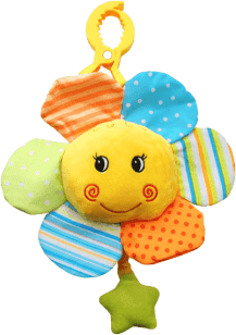 BABY ONO Hračka hudební na klipu – Květinka 0m+