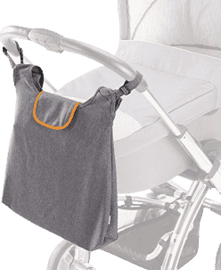 DIAGO Torba do wózka Deluxe - szara / pomarańczowa