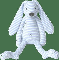 HAPPY HORSE Modrý pruhovaný králíček Reece 1