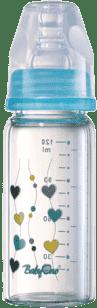 BABY ONO Kojenecká skleněná láhev Standard 120 ml 0m + modrá
