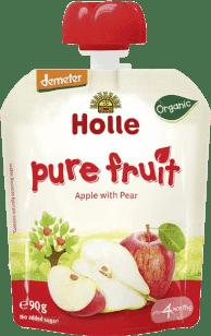 HOLLE Bio ovocné pyré jablko a hruška, 90g