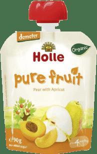 HOLLE Bio ovocné pyré hruška s meruňkou, 90g