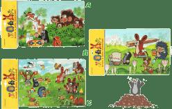 HM STUDIO Pěnové puzzle Krtek 12 dílků - různé druhy