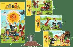 HM STUDIO Pěnové puzzle Krtek 24 dílků - různé druhy