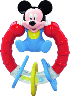 CLEMENTONI grzechotka Mickey obrotowy -blister