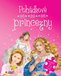 KNIHA Pohádkové princezny 7 puzzle s pohádkou