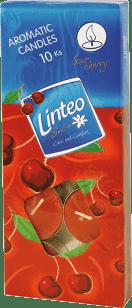 LINTEO Satin aromatické čajové svíčky 10 ks – višeň