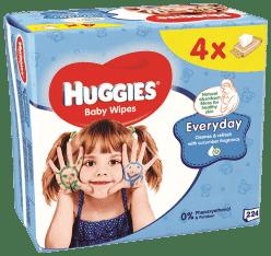 4x HUGGIES® Quatro Pack Everyday 56 szt. - chusteczki nawilżane