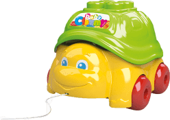 CLEMENTONI Clemmy baby Tahací želva s 15 kostičkami