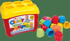 CLEMENTONI CLEMMY baby - Prostrkovací kýblik s 18 kockami