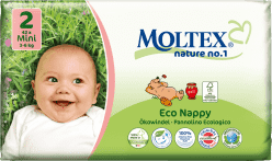MOLTEX Nature no. 1 Mini, 42 ks (3 - 6 kg) – jednorázové plienky