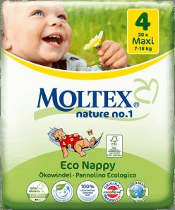 MOLTEX Nature no. 1 Maxi, 30 szt (7 - 18 kg) – pieluchy jednorazowe