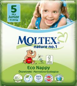 MOLTEX Nature no. 1 Junior, 26 szt (11 - 25 kg) – pieluchy jednorazowe