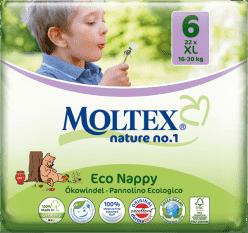 MOLTEX Nature no. 1 XL, 22 szt (16 - 30 kg) – pieluchy jednorazowe