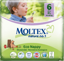 MOLTEX Nature no. 1 XL, 22 ks (16 - 30 kg) – jednorázové plienky