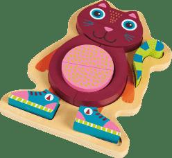 OOPS Happy Puzzle! - Puzzle ze zwierzątkami na planszy 9 szt. Kotka