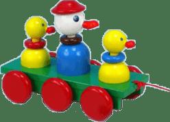 MIVA Tři kačenky tahací - barevné dřevo