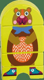 OOPS Drewniane puzzle magnetyczne Niedźwiadek
