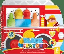 WOOKY Block Crayon Kolorowanka strażacy 5 szt., pastele
