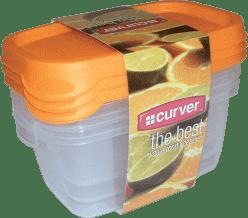 CURVER Dózy na jedlo Food Set Mix 3 x 0.5l, oranžová