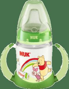 NUK Butelka do nauki picia Disney (silikon) 150 ml – zielona